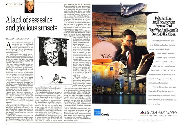 Article Preview: A land of assassins and glorious sunsets, April 1995 | Maclean's