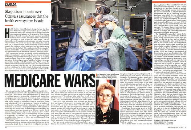 Article Preview: MEDICARE WARS, April 1995 | Maclean's