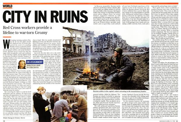 Article Preview: CITY IN RUINS, April 1995 | Maclean's