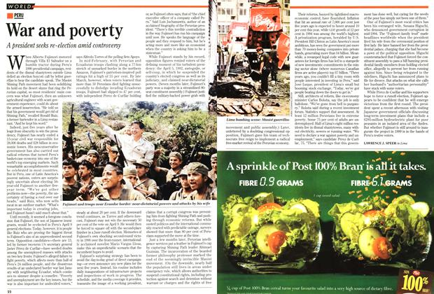 Article Preview: War and poverty, April 1995 | Maclean's