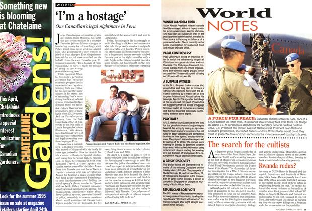 Article Preview: 'I'm a hostage', April 1995 | Maclean's