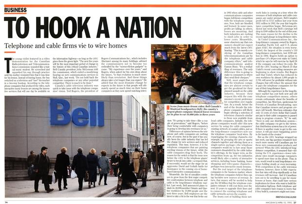 Article Preview: TO HOOK A NATION, April 1995 | Maclean's