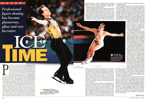 Article Preview: ICE TIME, April 1995 | Maclean's