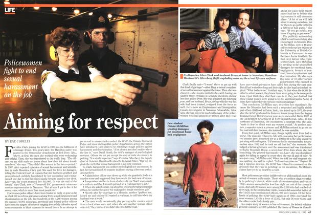 Article Preview: Aiming for respect, April 1995 | Maclean's