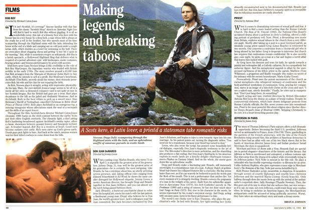 Article Preview: Making legends and breaking taboos, April 1995 | Maclean's
