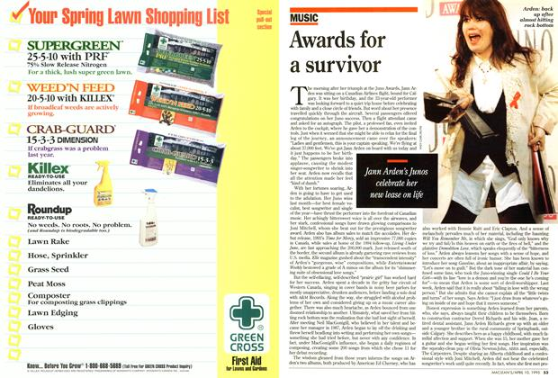 Article Preview: Awards for a survivor, April 1995 | Maclean's