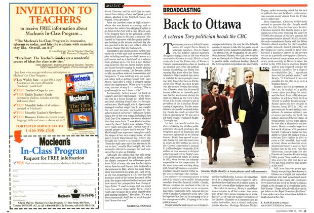 Article Preview: Back to Ottawa, April 1995 | Maclean's