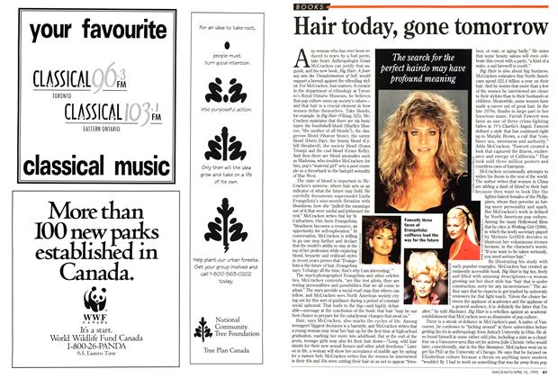Article Preview: Hair today, gone tomorrow, April 1995 | Maclean's