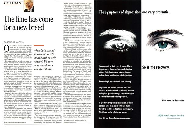 Article Preview: The time has come for a new breed, April 1995 | Maclean's