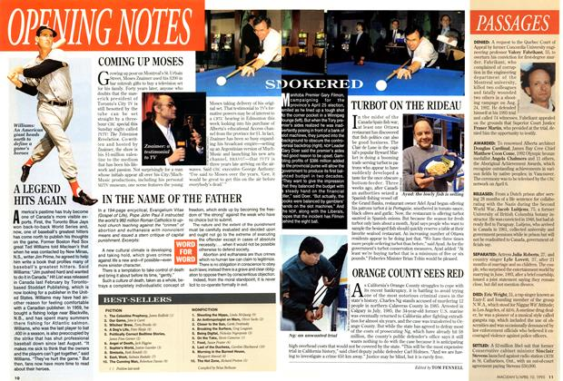 Article Preview: OPENING NOTES, April 1995 | Maclean's