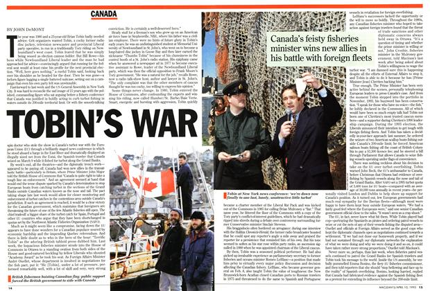 Article Preview: TOBIN'S WAR, April 1995 | Maclean's