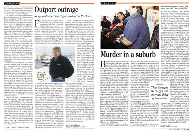Article Preview: Outport outrage, April 1995 | Maclean's