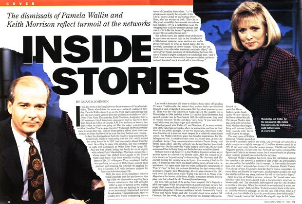Article Preview: INSIDE STORIES, April 1995 | Maclean's