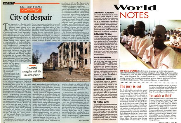 Article Preview: City of despair, April 1995 | Maclean's