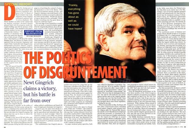 Article Preview: THE POLITICS OF DISGRUNTEMENT, April 1995 | Maclean's