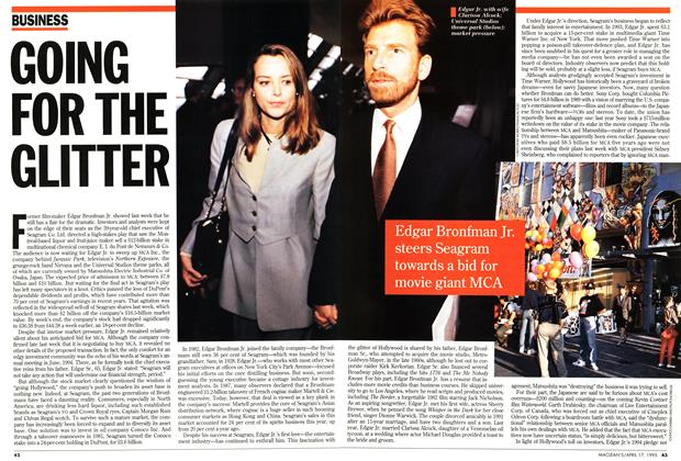 Article Preview: GOING FOR THE GLITTER, April 1995 | Maclean's
