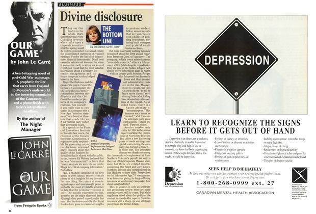 Article Preview: Divine disclosure, April 1995   Maclean's
