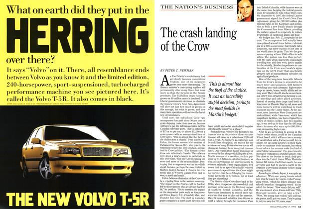 Article Preview: The crash landing of the Crow, April 1995 | Maclean's
