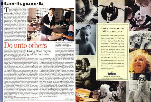 Article Preview: Do unto others, April 1995 | Maclean's