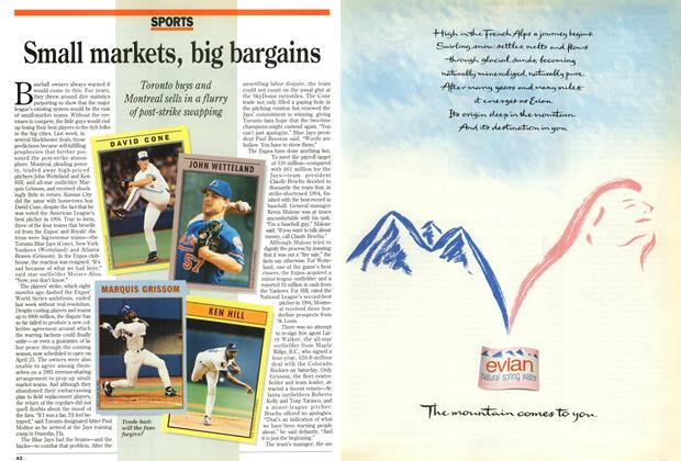 Article Preview: Small markets, big bargains, April 1995 | Maclean's