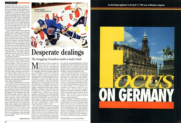 Article Preview: Desperate dealings, April 1995 | Maclean's