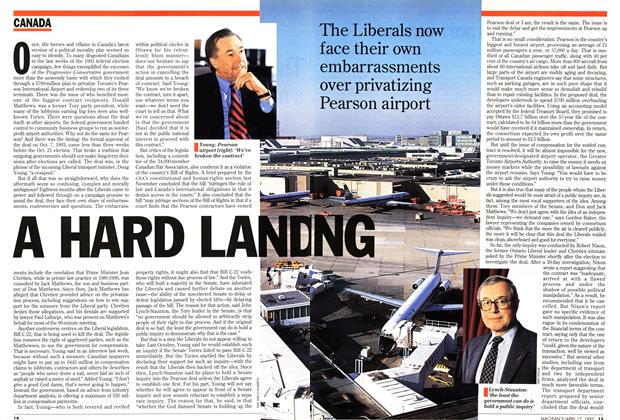 Article Preview: A HARD LANDING, April 1995 | Maclean's