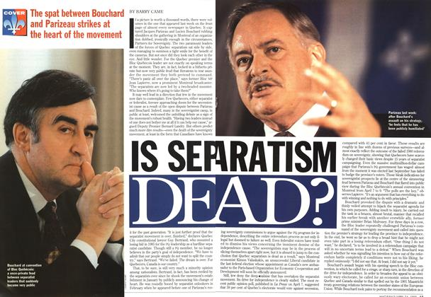 Article Preview: IS SEPERATISM DEAD?, April 1995 | Maclean's