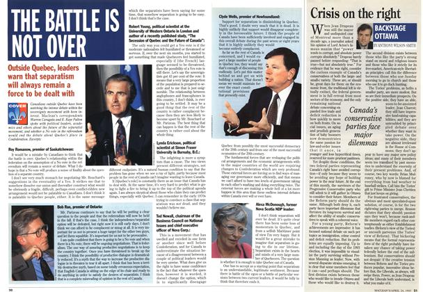 Article Preview: Crisis on the right, April 1995 | Maclean's