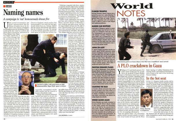 Article Preview: World NOTES, April 1995 | Maclean's