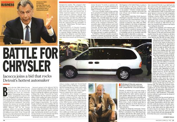 Article Preview: BATTLE FOR CHRYSLER, April 1995 | Maclean's