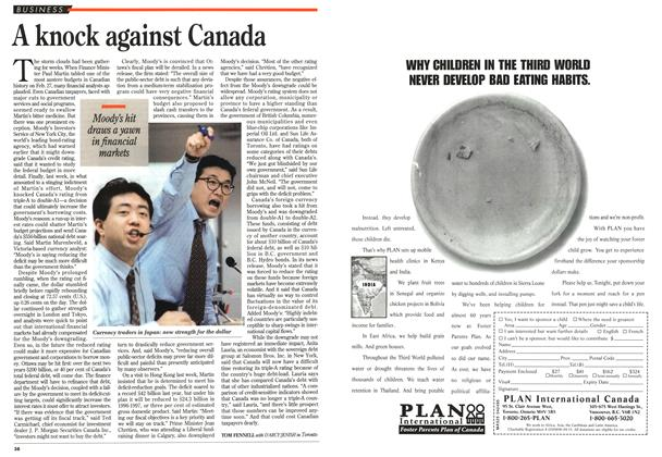 Article Preview: A knock against Canada, April 1995 | Maclean's