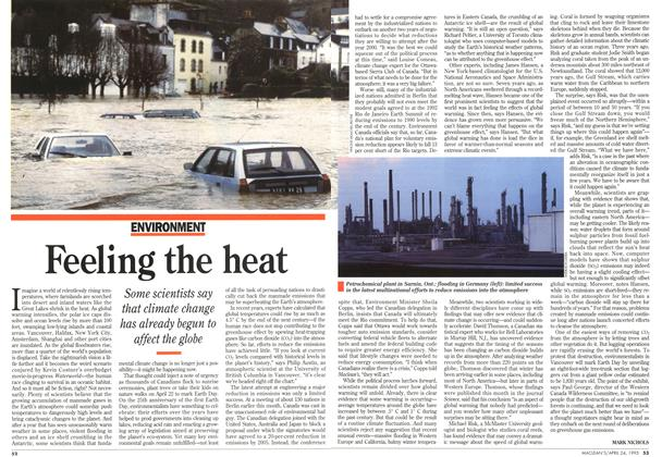 Article Preview: Feeling the heat, April 1995 | Maclean's