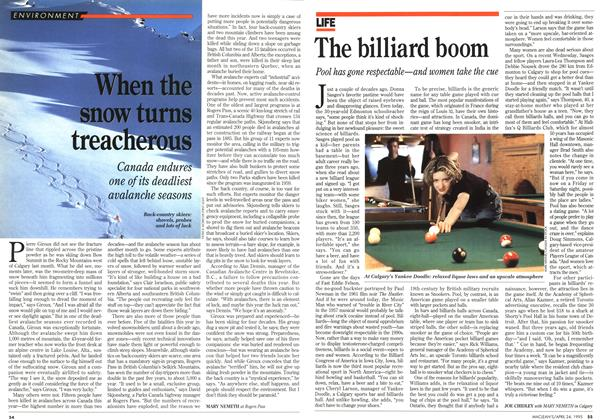 Article Preview: The billiard boom, April 1995 | Maclean's