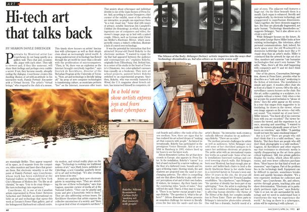 Article Preview: Hi-tech art that talks back, April 1995 | Maclean's