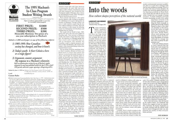 Article Preview: Into the woods, April 1995 | Maclean's