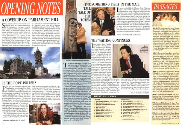 Article Preview: BEST-SELLERS, April 1995 | Maclean's