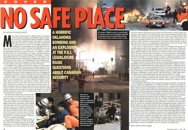 Article Preview: NO SAFE PLACE, May 1995 | Maclean's