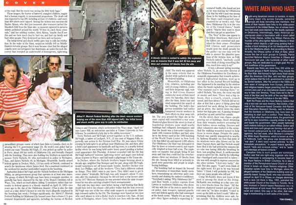 Article Preview: WHITE MEN WHO HATE, May 1995 | Maclean's
