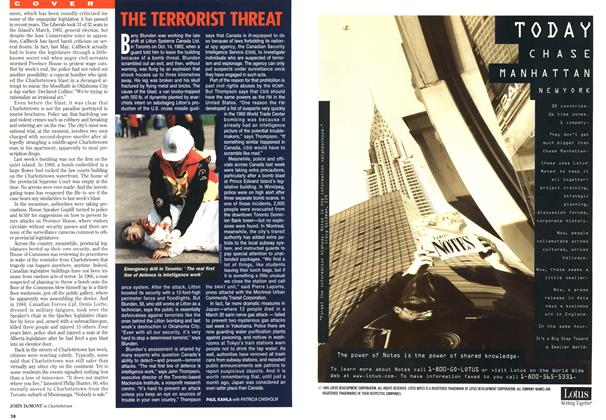 Article Preview: THE TERRORIST THREAT, May 1995 | Maclean's