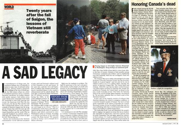 Article Preview: Honoring Canada's dead, May 1995 | Maclean's