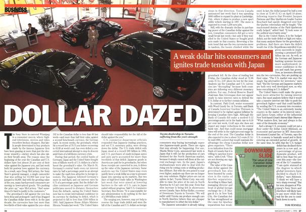 Article Preview: DOLLAR DAZED, May 1995 | Maclean's