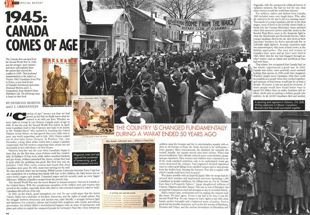 Article Preview: 1945: CANADA COMES OF AGE, May 1995 | Maclean's