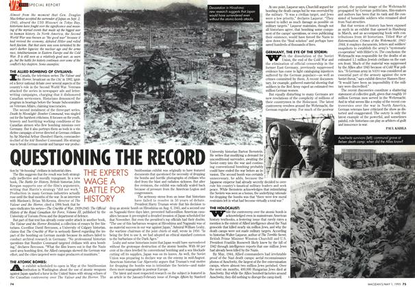 Article Preview: QUESTIONING THE RECORD, May 1995 | Maclean's