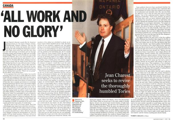 Article Preview: 'ALL WORK AND NO GLORY', May 1995 | Maclean's