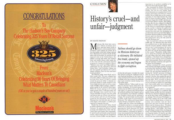 Article Preview: History's cruel—and unfair—judgment, May 1995   Maclean's