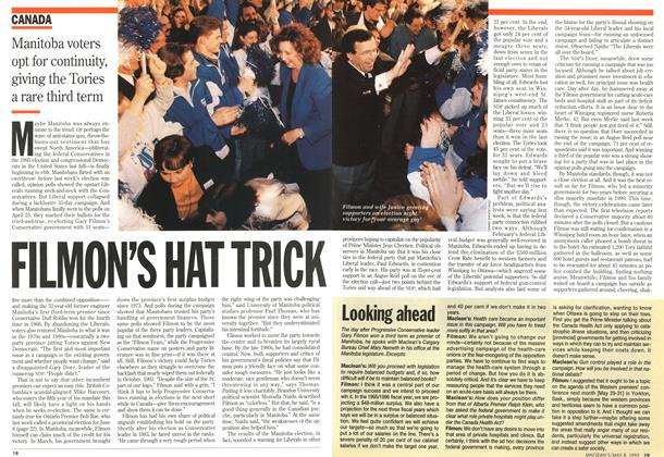 Article Preview: FILMON'S HAT TRICK, May 1995 | Maclean's