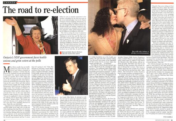 Article Preview: The road to re-election, May 1995 | Maclean's