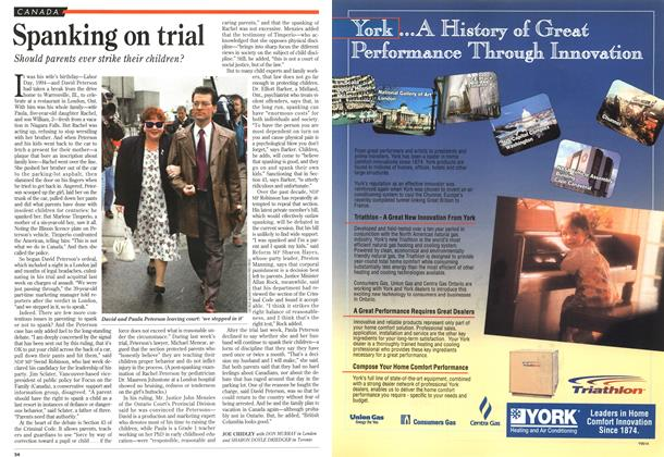 Article Preview: Spanking on trial, May 1995 | Maclean's