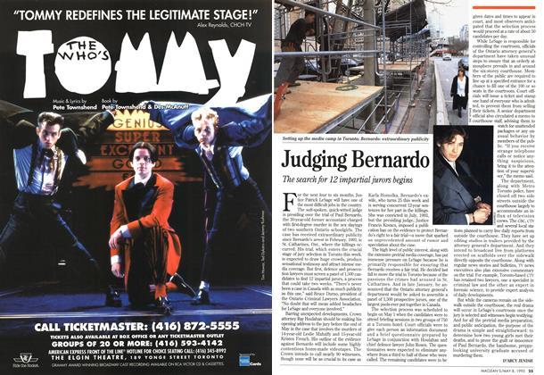 Article Preview: Judging Bernardo, May 1995 | Maclean's