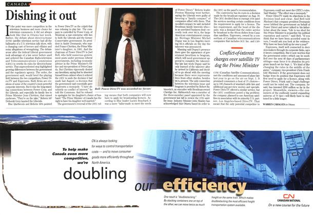 Article Preview: Dishing it out, May 1995   Maclean's